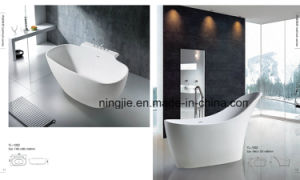 Artificial Stone Corian Solid Surface Bathtub (NJ-1002) pictures & photos