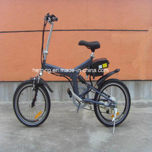 Ce Hot Sale High Speed Lithium Foldable E Electric Bicycle with Shimano Derailleur pictures & photos
