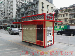 Outdoor Security Booth for Newspaper (HS-104) pictures & photos