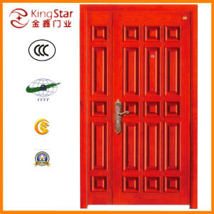 Steel Wood Armored Fire Door of Mother-Son Style