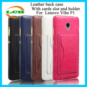 Hotselling Retro Back Cover Case with Cards Slot for Lenovo pictures & photos