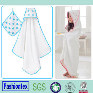 Soft Baby Muslin Bath Towel Kids Bath Hooded Towel pictures & photos