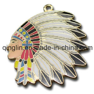 Custom Indian Head Metal Pet Tag with Ethnic Characteristics (QL-GP-0017) pictures & photos