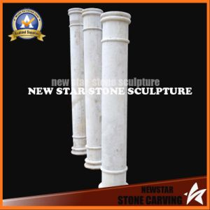 Stone Indoor White Marble Hollow Columns and Solid Columns with Simple Design pictures & photos