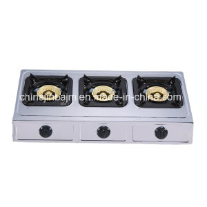 3 Burners Stainless Steel 710mm Length 100 Steel Cap Gas Cooker/Gas Stove pictures & photos