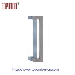 Stainless Steel 304 Square Glass Door Pull Handle (pH009) pictures & photos