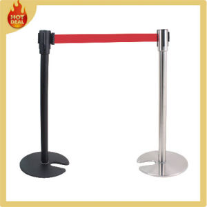 Stainless Steel Retractable Belt Barrier Queue Pole, Rope Stanchion pictures & photos