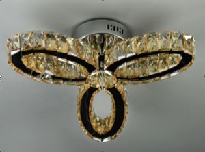Decorative Crystal LED Ceiling Lighting with Stainless Steel pictures & photos