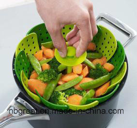 Lotus Plus Folding Non-Scratch Steamer Basket Cookware pictures & photos