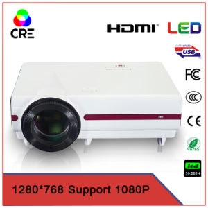 Cheap LED LCD Projector Home Theater with Android HD WiFi Bluetooth Television Support 1080P pictures & photos