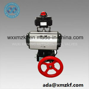 OEM Pneumatic Rack and Pinion Actuator with Hand Wheel pictures & photos