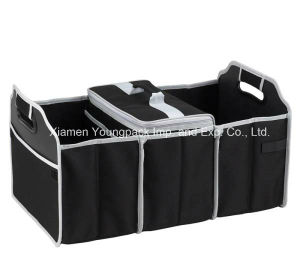 Custom Black 3-Section Foldable Trunk Organizer and Cooler Set pictures & photos