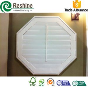 Special Shaped Wooden Plantation Window Shutters