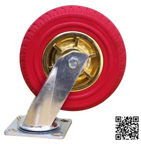 Heavy Duty Red Rubber Swivel Caster pictures & photos