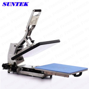 High Quality Silver Black Heat Transfer Press Machine for T-Shirts pictures & photos