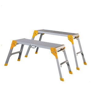 Aluminium Working Platform Ladder for Car Wash pictures & photos