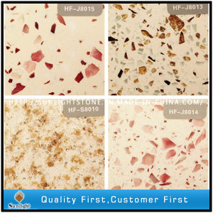 Mixed Color Artificial Red Diamond Quartz Stone pictures & photos