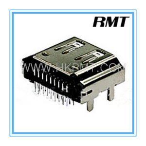 HDMI 19p Female a Type Reverse DIP Connector (RMT-160325-010) pictures & photos
