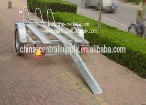 Wholesale Buy Manufacturer Light Duty 3.4m Double Motorcycle Trailer Ce340 pictures & photos