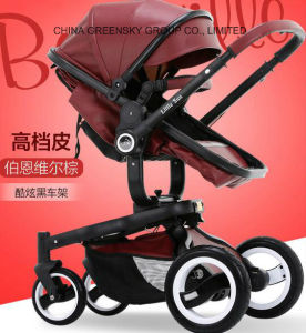 2016 New Design Hi-Quality Leather Baby Stroller pictures & photos