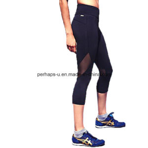 High Quality Spliced Women Fitness Wear Yoga Pants pictures & photos