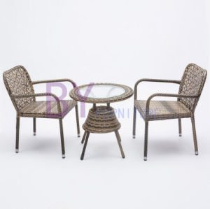 by-492 High Quality Hand Weaving Three-Piece Indoor and Outdoor Furniture pictures & photos