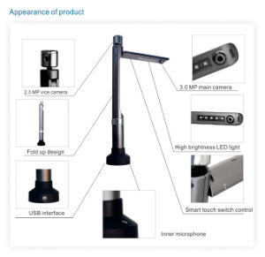 Eloam Document Scanner S520 / V520, Two Camera Portable Document Camera, Support Sdk and API for Banking and Telecom Industry pictures & photos