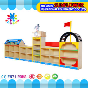 Mickey Modeling Toys Rack, Wooden Toy Cupboard, House Modeling Toys Rack (XYH12132-1) pictures & photos