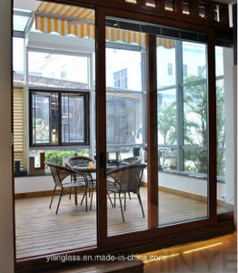 Aluminum Double Glazed Sliding Door pictures & photos