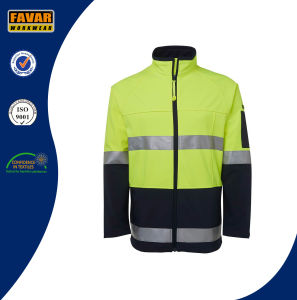 Hi Vis Reflective Safety Softshell Jacket Workwear pictures & photos