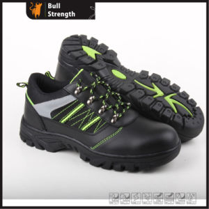 Genuine Leather with Cemented Rubber Low Cut Safety Shoe (SN5296) pictures & photos
