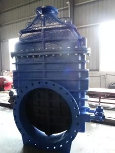 Resilient Gate Valve, DIN3352 F4 F5, with by Pass Valve, Gearbox with Top Flange ISO5210 pictures & photos