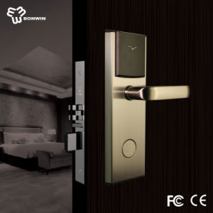 Z Wave Wireless Battery Operated Type Handle Mortise Hotel Door Lock pictures & photos