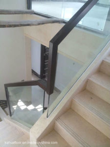 Fashion Simple All-Glass Staircase Wooden Handrail pictures & photos