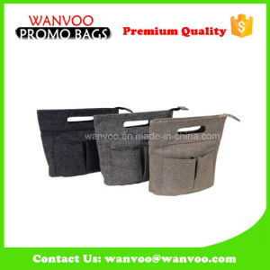 Wholesale Designer Felt Cosmetic Bag Custom Pouch pictures & photos