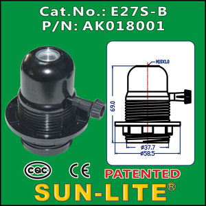 E27 Turn Knob Switch Lampholder (Outer ring)