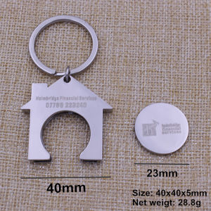2015 Metal Shopping Trolley Coin Key Ring pictures & photos
