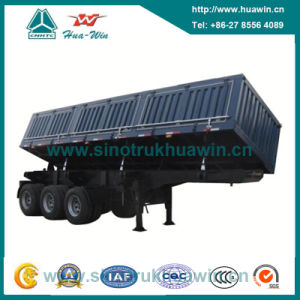 3 Axle Side Tipper Dump Semi-Trailer pictures & photos