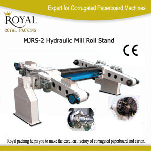Electrical Paper Roll Stand Machine (MJRS-2) pictures & photos