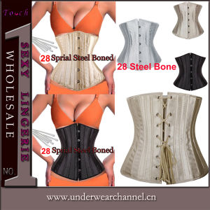 2016 Hot 28 Spiral Steel Boned Bustiers Sexy Corset (TG637) pictures & photos