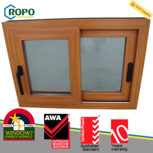 PVC Hurricane Impact Sliding Windows with Woodgrain Color pictures & photos
