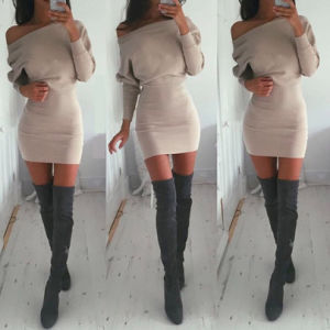 Autumn New Design Long Sleeve off Shoulder Ladies Western Dress Designs pictures & photos