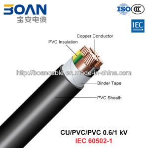 Cu/PVC/PVC, LV Power Cable, 0.6/1 Kv (IEC 60502-1) pictures & photos