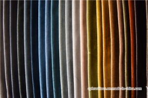 Polyester Woven Velvet Sofa Curtain Fabric for Decoration pictures & photos