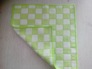 Microfiber Bamboo Cloth W/ Grid Design/ Pattern pictures & photos