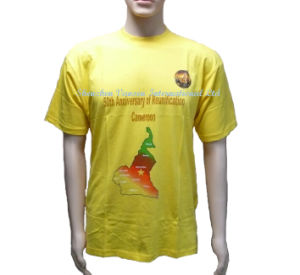 Soft Election Yellow T-Shirt for Vote pictures & photos