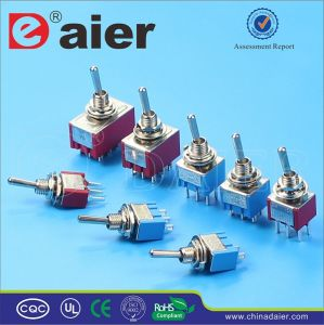 CE, TUV 3pin Single Pole on-off-on Electric Toggle Switch pictures & photos