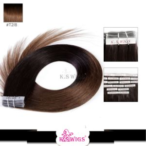Double Drawn 100% Human Hair Tape Hair Extension pictures & photos