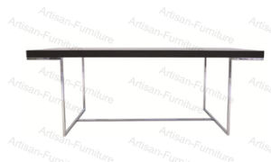 Rectangle Modern Wood Dining Table with Steel Leg for Restaurant