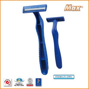 Twin Stainless Steel Blade Disposable Razor Fro Man (LY-2501) pictures & photos